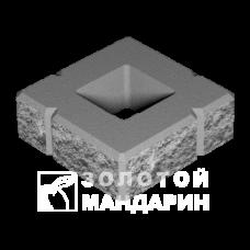 Блок малый декоративный для столба М-200 300х300х100 (скол 4 сторон). Золотой Мандарин