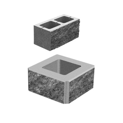 Блок декоративный М-200 400х200х200 (скол 2 сторон)