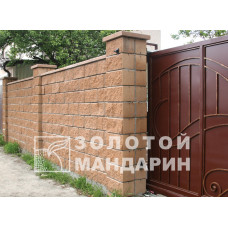 Блок декоративный М-200 400х200х200 (скол 1 стороны). Золотой Мандарин