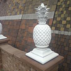 Крышка четырехскатная для столба Ананас. Золотой Мандарин