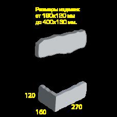 Облицовочный камень Палермо (угловой элемент). Золотой Мандарин