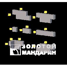 Облицовочный камень Шале (угловой элемент). Золотой Мандарин