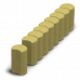 Поребрик фигурный круглый 500х250х80 Золотой Мандарин
