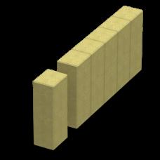 Поребрик фигурный квадратный 500х250х80. Золотой Мандарин