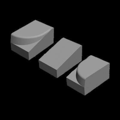 Система заезда Апарель средний элемент. Золотой Мандарин