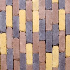 Тротуарная плитка Кирпич Барселона Антик h60. Золотой Мандарин