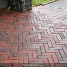 Тротуарная плитка Кирпич Узкий. Золотой Мандарин