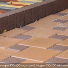 Тротуарная плитка Квадрат Большой  h100. Золотой Мандарин