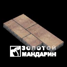 Тротуарная плитка Паттерн h60. Золотой Мандарин