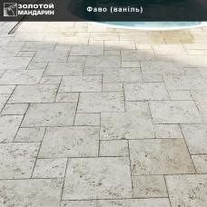 Тротуарная плитка Плита Фаво h40. Золотой Мандарин