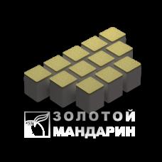 Тротуарная плитка Шашка без фаски. Золотой Мандарин