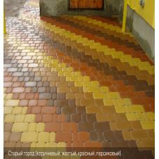 Тротуарная плитка Старый Город h40. Золотой Мандарин